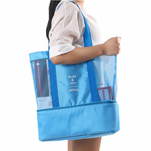 Large Thermal Insulation Cooler Bag 2 Layers Food Lunch Bag Trips BBQ Fresh Keeping Ice Pack Cooler storage Accessories Supplies