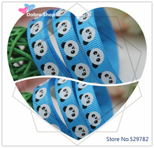 "3/8""9mm Cartoon Printed Lovely Bear Panda Grosgrain Ribbon(island blue),Tape for Hair Bows,Gift Packaging,Children Accessories"