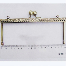 19cm vintage bronze color straight metal purse clasp frame bag accessories mouth golden 3pcs/lot