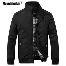 Mountainskin Men's Casual Jackets 4XL Fashion Male Solid Spring Autumn Coats Slim Fit Military Jacket Branded Men Outwears SA432(China)