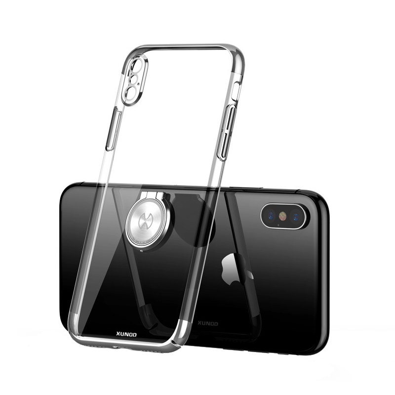 Luxury Clear Ring Holder Case For iphone X 10 Xundd Hard PC back Cover For iphone X case capa work with Magnetic car holder 11