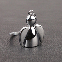 Fashion Lovely Wing Angel Doll Pendant Bag Charm Key Ring Holder Keychain Gift(China)