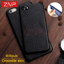 ZNP Luxury Rocodile Snake Print Leather Full Cover Case For iphone X 6 6s Plus 10 For iphone 7 8 Plus 7 8 Phone Case Coque Capa(China)