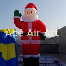 winter sale Christmas decoration inflatable Santa Claus say hello with Christmas gifts
