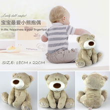 Newest Arrivals Infant Toddler Newborn Baby Kids Lovely Gift Cute Light Brown Bear Soft Plush Toys Stuffed Animal Doll Pillow