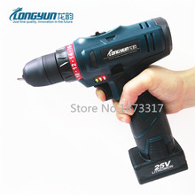 25V Electric Drill Rechargeable Lithium Battery Cordless Electric Drill Multi-function Electric Screwdriver Handheld Power Tools