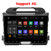 1024*600 Quad core KIA Sportage R 2010 2011 2012 2013 2014 In Dash Pure Android 5.1 Car DVD Player GPS 2 din 9 inch 4G 3G WiFi