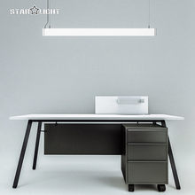 New high quality LED Restaurant Pendant Lights 120cm Strip combinations Aluminum Lamp for Office Library meeting studio