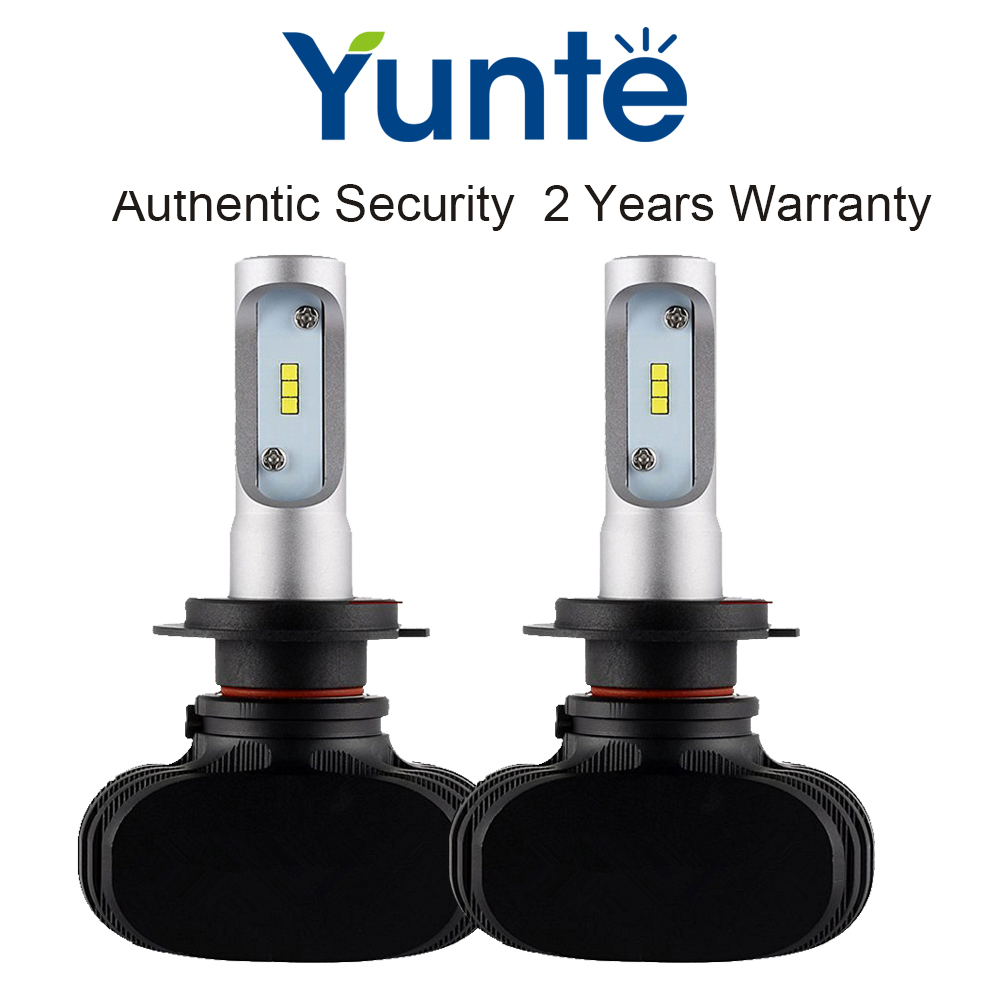 Yunte 1SET H3 LED Headlights Bulb Car LED Bulb for H3 Super Bright 6500k White Light Other Avaiable H1 H4 H7 H8 H11 9005 9006<br><br>Aliexpress