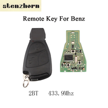 Stenzhorn 433.9Mhz Complete Remote Control Key Mercedes Benz C E ML Class 1999-2010 2Button Car Key Circuit Board Blade
