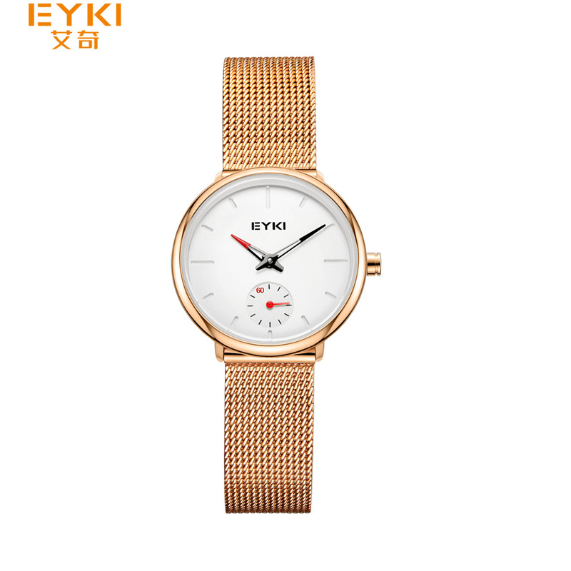 Luxury Brand EYKI Relogio Feminino Clock Women Watch Rose Gold Ladies Fashion Casual Quartz Wristwatch Minimalist Watches <br>