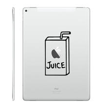 "Juice Box Fun Vinyl Laptop Decal for Apple iPad Air 9.7"" / mini 7.9"" / Pro 12.9"" Tablet PC Sticker Notebook Partial Skin Sticker"