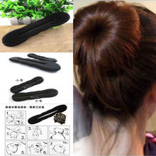 2x New Women Hair Band Styling Magic Sponge Clip Former Foam Bun Curler DIY Hairstyle Twist Girl Maker Tool(China)