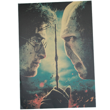 Harry Potter Part 2 The Deathly Hallows Poster Series Retro Kraft Paper Antique Poster Wall Sticker Cafe Decor 51.5x36cm