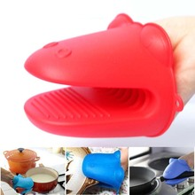 Household Hipop Shape Microwave Oven Handschoen Silicone Sleeve Guantes De Cocina Baking Oven Kitchen Mitt Grill Accessories(China)