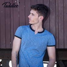 Buy Taddlee Brand Fashion New Men's Tshirts Casual O-neck Top Tee Shirts Short Sleeve Cotton Men T-shirt Stretch Soft Solid Basic for $16.25 in AliExpress store