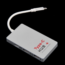 USB 3.1 Type-C Hub To 6-Port USB 3.0 Hub USB 3.1 Adapter SD Card Reader For PC Apple  Computer Peripherals USB HubsGAF5