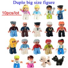 Wholesale 10pcs/lot duplo big size characters building block parts toys collection gift baby toy small figure doll block(China)