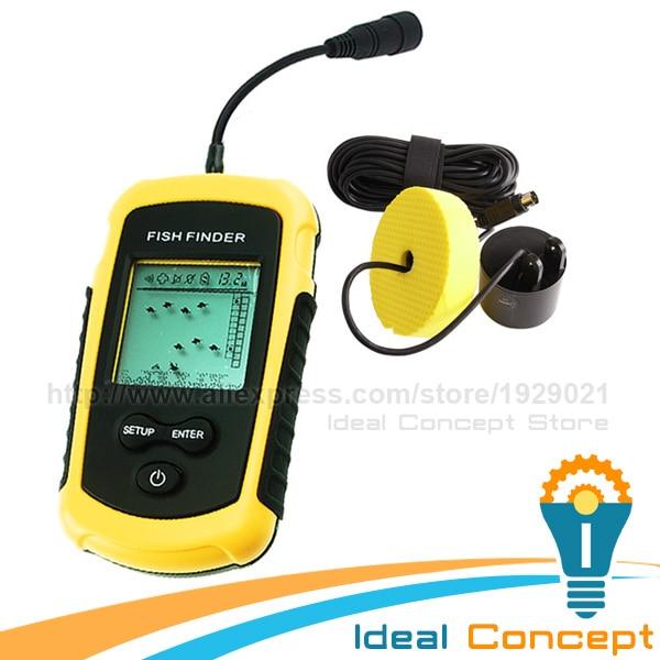 FF-1108-1 LUCKY Sonar Sensor Fish Finder 100m Deep with Fish Alarm 45 degree Sensor Beam in Fishing<br><br>Aliexpress