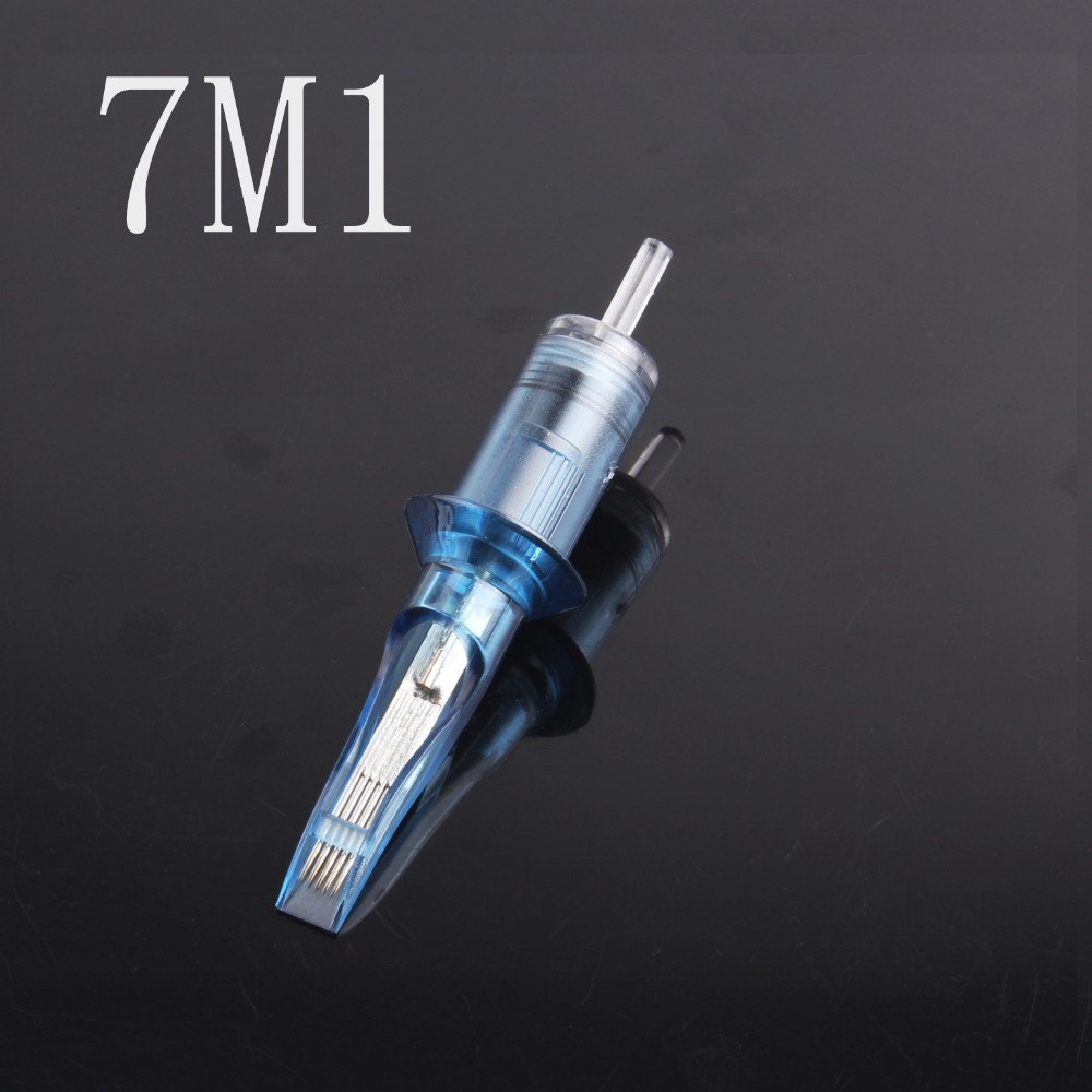 7M1 Disposable Sterilized Permanent Makeup 10PCS Rotary Tattoo Machine Needles Free Shipping