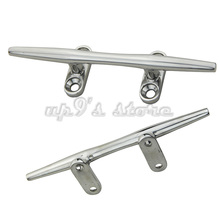 Free Shipping 2pcs Stainless Steel 316 Marine Boat Hardware Open Base Cleat 5'' Open Base Stud Mount