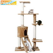 H150cm Cat Toy Scratching Match with Home Decoration Fast Delivery Fun Wood Climbing Tree Cat to Jumping Pet Furniture