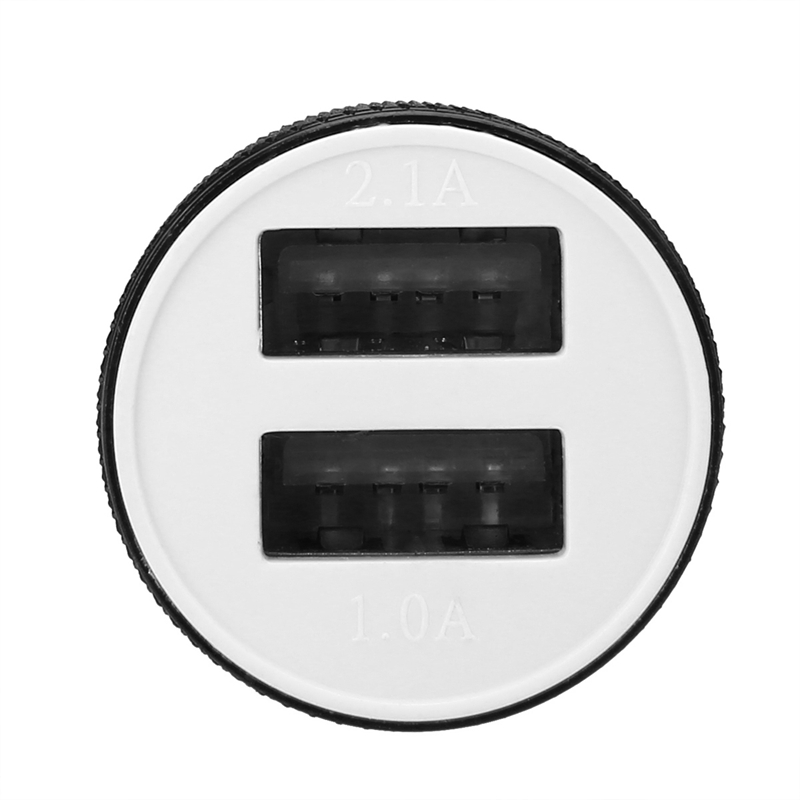 MAYITR 12V Car Dual USB Charger Mini Cigarette Lighter 2 Twin Port USB Plug Universal for Car Lighter Socket Charger Adapter