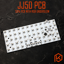 jj50 v1.0 Custom Mechanical Keyboard 50% PCB programmed 50 preonic layouts bface firmware with rgb bottom underglow led(China)