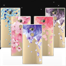 Buy Cute Floral Printed Soft Silicone Case Cover Sony Xperia XA2 Ultra 3D Relief Case Coque Lace Funda Sony Xperia XA2 Ultra for $1.17 in AliExpress store