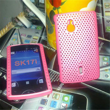 1x Mesh Hard Case Cover for Sony Ericsson Xperia Mini PRO SK17i back cover free shipping(China)