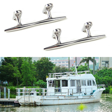 CITALL 2PCS Stainless Steel Silver Dock Deck Line Rope Cleat Tie Boat Yacht Marine Hardware Latch(China)
