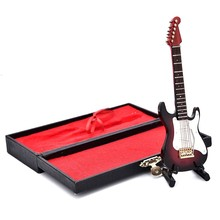 3D Music Instrument Miniature Display Model Guitars And Quality Case Great Gift(China)