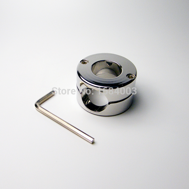 Metal Ball Stretchers Chastity Device Scrotum Stretcher Ball Penis Locking Device A536<br>