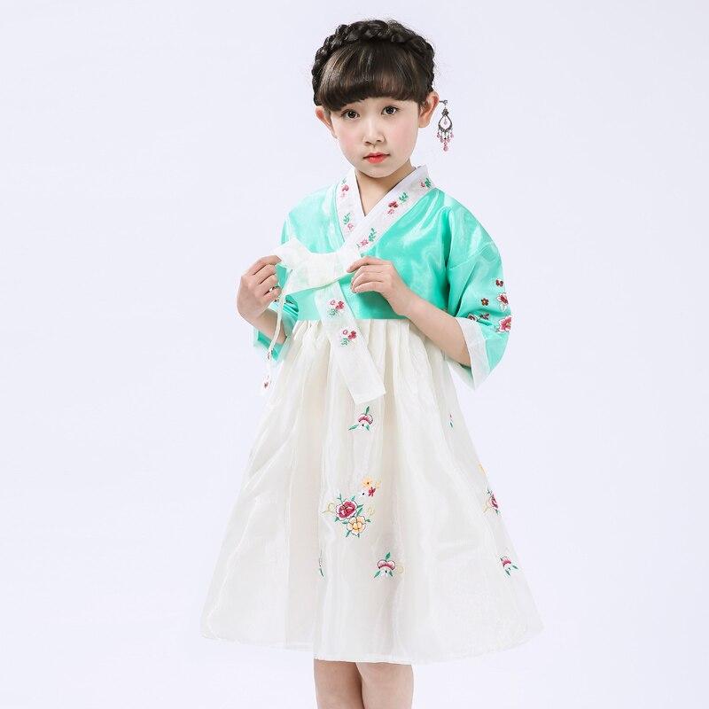 2017 autumn yukata japanese children hanbok dress baby girls korean princess national costumes flower girl performance<br>