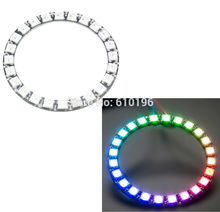 WS2812B Module Strip 24 Bits 24 X WS2812 5050 RGB LED Ring Lamp Light with Integrated Drivers RGB 24