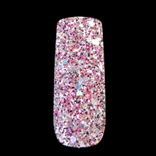 Purple Silver Glitter Mix Size Nail Art Glitter Powder Brilliant UV Nail Glitter Powder Mix Color Red Acrylic 3D Dust 264