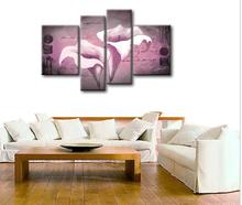 Popular large flowers oil painting stretched canvas art for living room high quality reproduction oil painting(China)