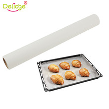 Delidge 1pc 5M Parchment Paper Non-stick Roll Baking Pan Liners Oven Safe Cookie Sheets Kitchen Baking Oil Paper(China)