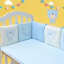 Buy 6pcs/set Baby Children Fence Playpens Comfortable Cute Baby Crib Cotton Cloth Blend Bumper Bed Protector Nursery Care for $20.72 in AliExpress store