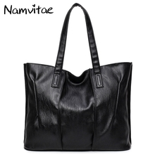 Buy Namvitae Soft PU Leather Female Handbag Fashion Women Shoulder Bag Large Size Tote Brand Designer Black Women Bag Casual Bolsas for $14.45 in AliExpress store