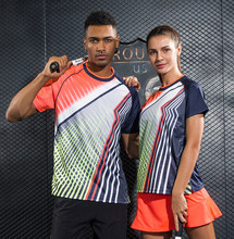 Running Sportswear Quick Dry breathable multicolor badminton shirt,Women/Men table tennis clothes team training T Shirts jerseys