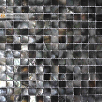 20 square meteres black mother of pearl tiles luxury tiles for kitchen backsplash and bathroom wall