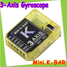 Register free shipping KBAR MINI K-BAR YELLOW K8 three-axis gyroscope 3 Axis Gyro Flybarless PK VBAR B8 For Mikado VBAR Trex(China)
