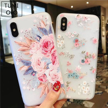 Buy iPhone X 10 Simple Pink Girl Flower Plants Matte Back Phone Cover iPhone 6 6S 7 8 Plus Unicorn Silicone Phone Case Funda for $1.85 in AliExpress store