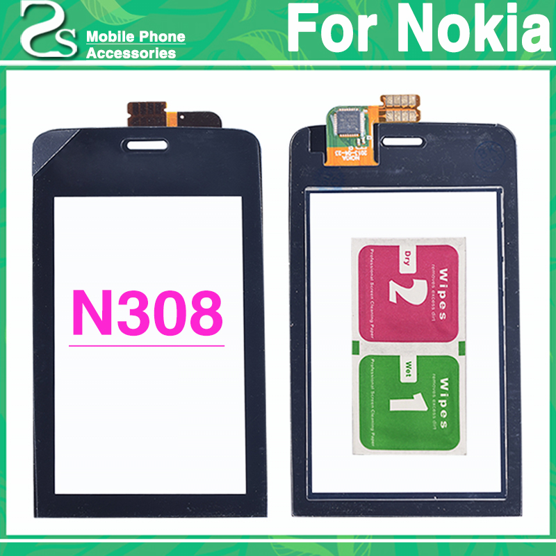 New N308 Touch Screen For Nokia Asha 308 309 310 Digitizer Touch Sensor Glass Panel Without Frame