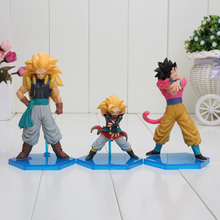 3pcs/set Anime Dragon Ball Z GT Son Goku Super Saiyan 4 PVC Action Figure Toy HEROES DXF Vol.3 Model(China)