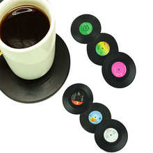 Hot Selling Classic Retro Vinyl CD Record Table Cup Mat Home Office Desk Creative Coffee Drink Placemat Bar Tableware Mats