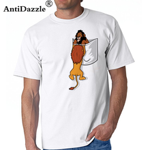 bba24ccabae Funny men Pocket lion King T Shirt men Short Sleeve O-neck Mufasa T-