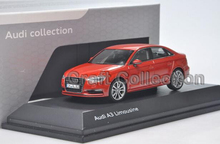 Orange 1:43 Car Model Audi A3 Limousine Diecast Model Car Classic Toys Car Replica Miniatures