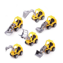 6Pcs/lot Mini Excavator Truck Diecast Model Car Toys  Educational Toys Plastic Engineering Vehicle Gift Toy for Children Kids